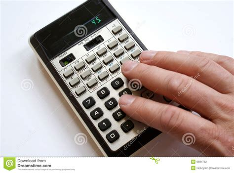 Person Using Old Calculator Stock Photography - Image: 6694762