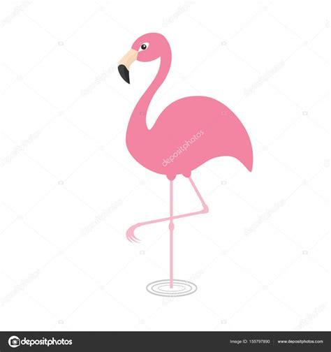 Personaje de dibujos animados lindo de flamenco rosado ...