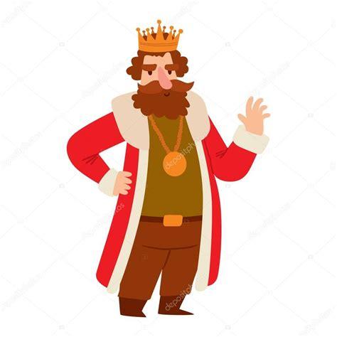 Personaje de vector de dibujos animados rey — Vector de ...