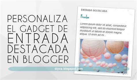 Personaliza el Gadget de Entrada destacada de Blogger ...