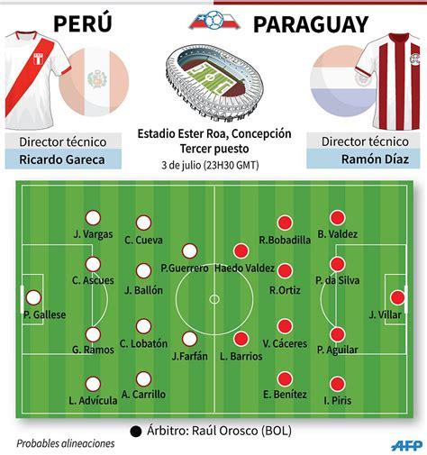 Perú derrotó 2-0 a Paraguay y obtuvo medalla de bronce en ...