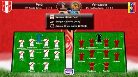 Perú recibe a Venezuela, choque de coleros | Erbol Digital