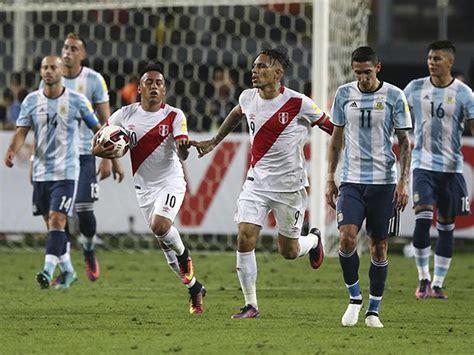 Perú y Argentina jugaron un partidazo por Eliminatorias ...