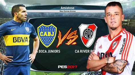 PES 2017 - EL SUPER CLASICO DEL FUTBOL ARGENTINO BOCA VS ...