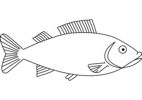 Pescado #96 (Animales) – Páginas para colorear
