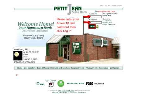 Petit Jean State Bank Online Banking Login - CC Bank