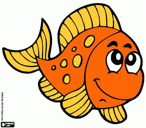 pez naranja para colorear, pez naranja para imprimir