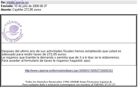 Phishing bancario a CajaMar con un asunto muy llamativo.