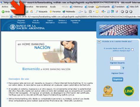 Phishing: Home Banking (Banco de la Nación Argentina ...