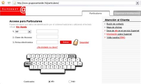 Phishing que afecta a clientes del Grupo Santander.