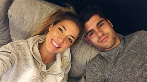 Photo: Alvaro Morata recharges with his wife ahead of ...