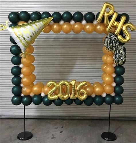 Photo booth frame of balloons | Dillon s graduation party ...