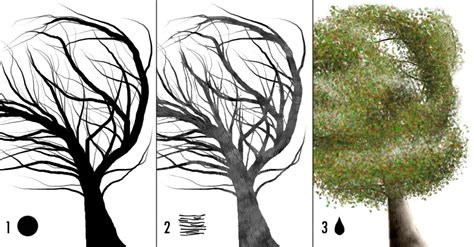 Photoshop – Crea 3 pinceles para dibujar árboles