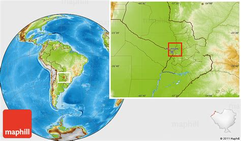 Physical Location Map of Rio Paraguay