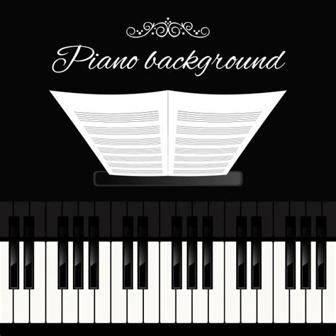 Piano background Vector | Free Download
