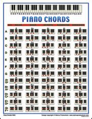 Piano Chords poster. Printed educational instructional ...