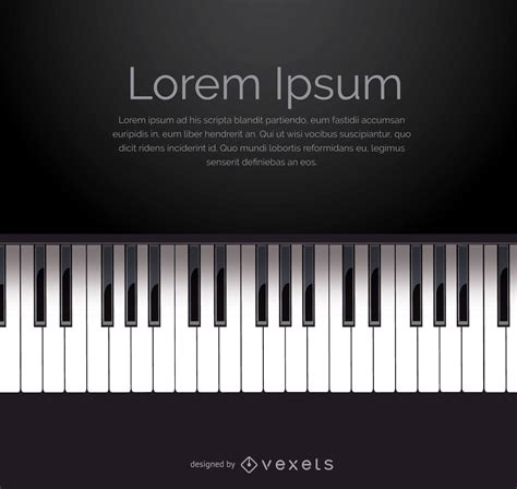 Piano keyboard vector with space for message - Vector download
