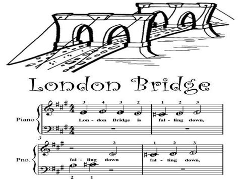 Piano Sheet Music for Beginners   London Bridge Beginner ...