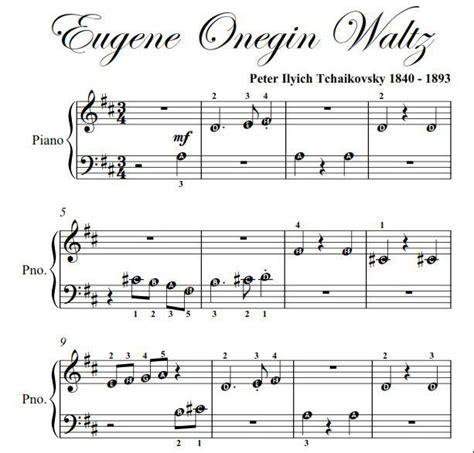 Piano Sheet Music for Beginners   ... Onegin Waltz ...