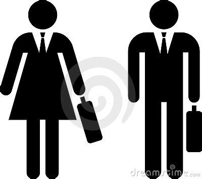 Pictogram of businessman and businesswoman