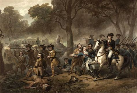 Picture of George Washington in Battle