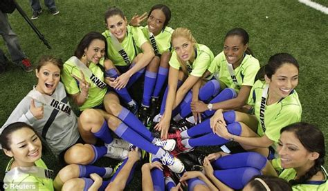 Pictures: Miss Universe Football match | Metro UK