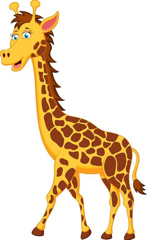 Pie de dibujos animados de jirafa | Descargar Vectores Premium