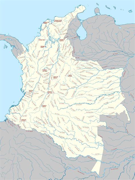 Pin Mapa-hidrografico-de-colombia on Pinterest