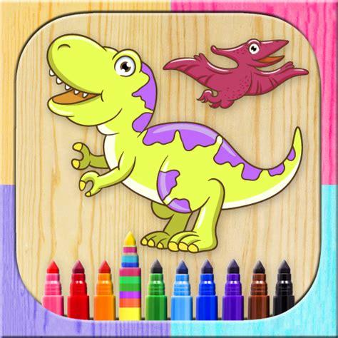Pinta dinosaurios mágico. Juego de niños para dibujar y ...