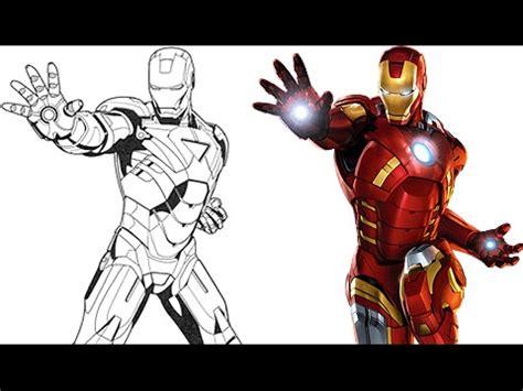 Pintando a Iron Man - Super Heroes de Marvel - Dibujos ...