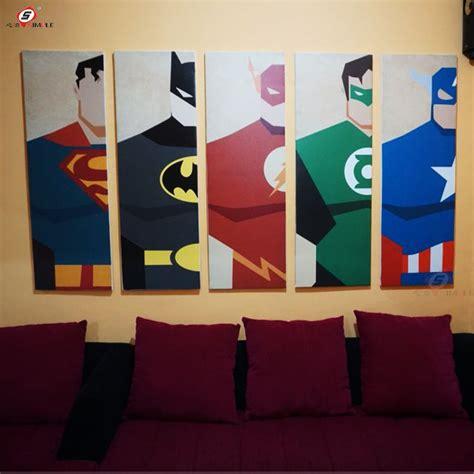 Pintura Al Óleo de la Lona Super Héroe Batman Dibujos ...