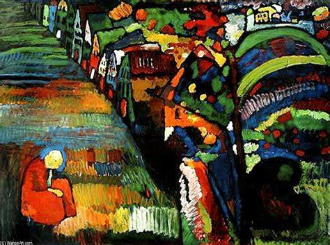 Pintura con casas  Kandinsky | Arte del Siglo XX