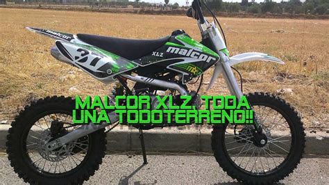 PIT BIKE MALCOR XLZ 125cc - YouTube