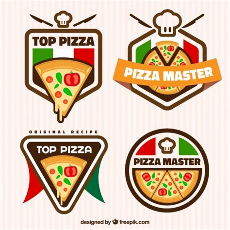 Pizza, logotipos | Descargar Vectores gratis