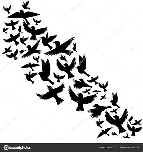 Pjaros Volando. Pjaros Volando. Good Birds Flying Silueta ...