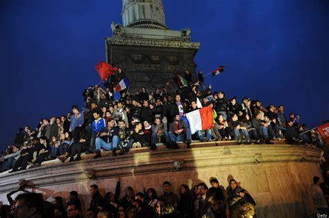 Place de la Bastille Celebrations Erupt Following Francois ...