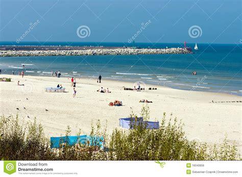 Plage Baltique En Pologne Image libre de droits - Image ...