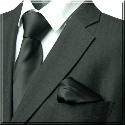 Plain black silk tie Marc-Philippe quality handmade silk ...