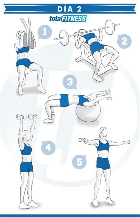 Plan de entrenamiento de 5 días para chicas   Rutinas y ...