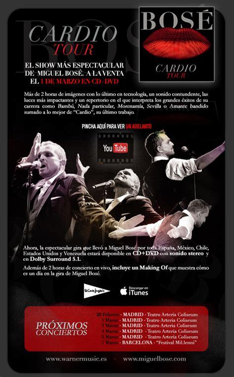 Planeta Bose: CARDIO TOUR DVD a la venta el 1 de Marzo