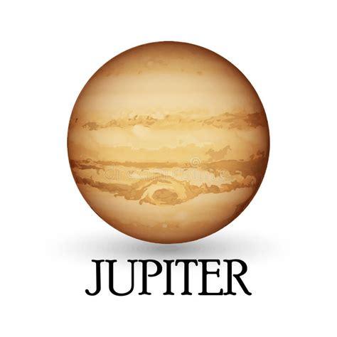 Planeta jupiter com fundo ilustração do vetor. Imagem de ...
