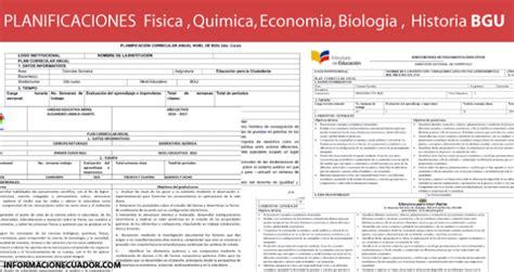 Planificaciones de Fisica, Biologia, Quimica, Economia ...