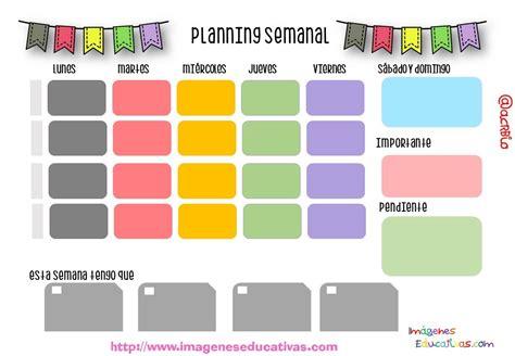 Planificador semanal  2    Imagenes Educativas