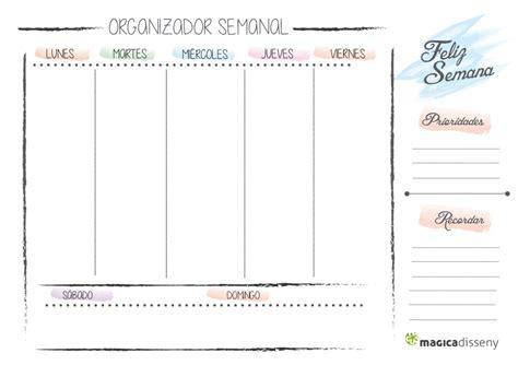 Planificador semanal imprimible