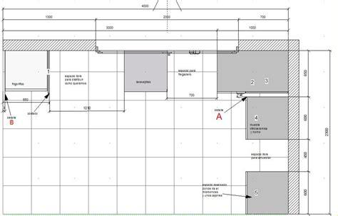 planificar muebles bajos a la cocina