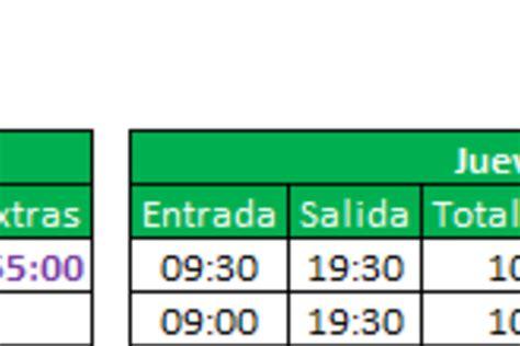 Planilla de Excel para el Cálculo de Horas Extras ...
