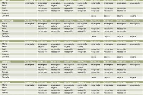 Planilla de Excel para Programación de Turnos de Trabajo ...