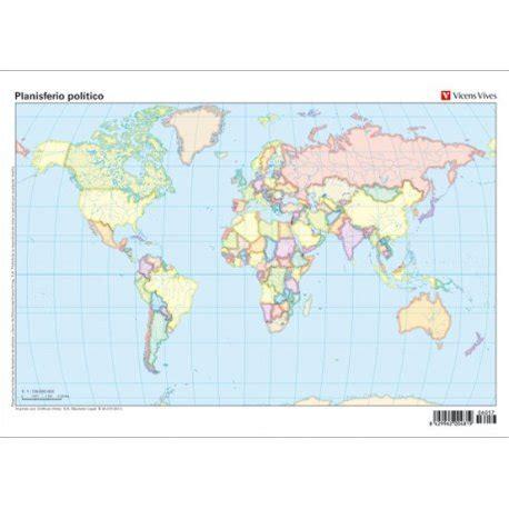 Planisferio político. Mapa mudo. Vicens Vives