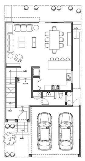Plano casa monterrey planta baja | Planos de Casas ...