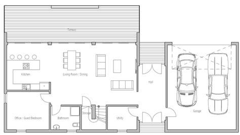 plano de casa cuadrada planta baja — Planos de Casas Gratis